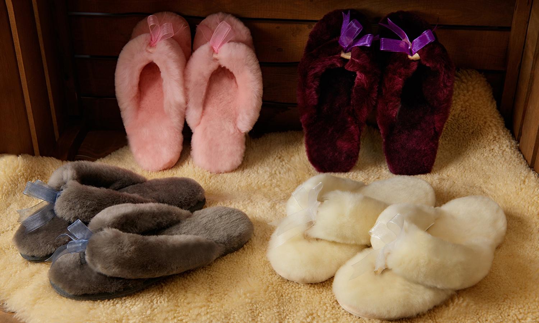 Sheepskin Flip Flops